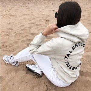 TALENTLESS CIRCLE LOGO PREMIUM HOODIE BONE XS-L